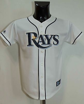 TAMPA BAY RAYS MLB BASEBALL JERSEY MAJESTIC SIZE Youth Large VGC