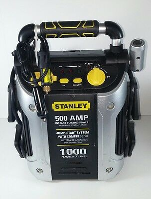 Stanley 500 Start / 1000 Peak Amp Jump Starter with Compressor Model J5C09
