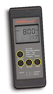 Hanna Instruments HI 9145 Portable Dissolved Oxygen Meter, with Extended Range