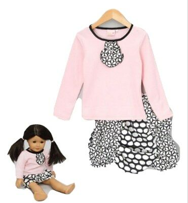 GIRLS SKIRT AND TOP SET 4YRS with matching DOLLS OUTFIT - New