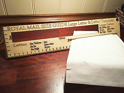 Royal Mail Letter Size  Guide Post Office Post Price Postage Templates laser ply