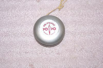 Vintage Original Genuine Olympic Yo Yo Wooden Sweden Silver