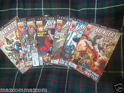 AVENGERS UNCONQUERED Issues1,2,3,4,5,6,7,9,11,13 MARVEL
