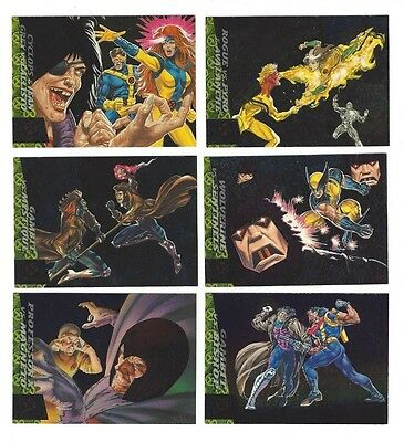 1994 Fleer Ultra X-Men Greatest Battle 6 Card Set Nm/m Marvel  Insert Chase Set
