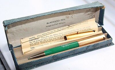 Swan Mabie Todd Fyne Point pencil, box and fountain pen lid 1930s - Spares