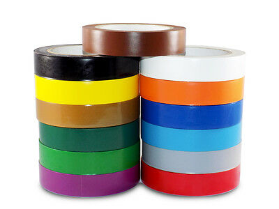 """SOLID SPVC COLORED TAPES 108FT VINYL PINSTRIPPING TAPE 2/"""" X 36YD"""