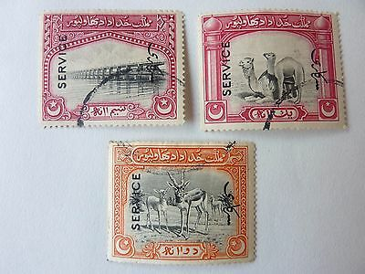 353]   Bahawalpur Stamps - 1945 Official Stamps - Bridge /camel / Deer - F /used