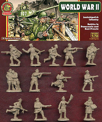 1:72 FIGUREN UR003 WWII Soviet & Polish Infantry - ULTIMA RATIO