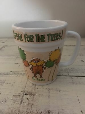 Dr Seuss The Lorax I Speak For The Trees Coffee Mug Cup Universal Studios RARE