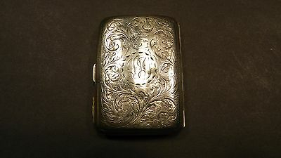 Silver Cigarette Case Nicely Engraved Hallmarked