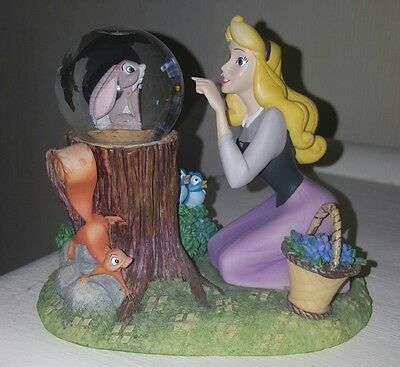 Disney Sleeping Beauty and forest friends snow globe