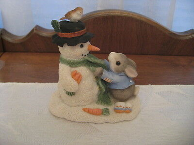 "Enesco ""My Blushing Bunnies"" Bunny With Snowman"