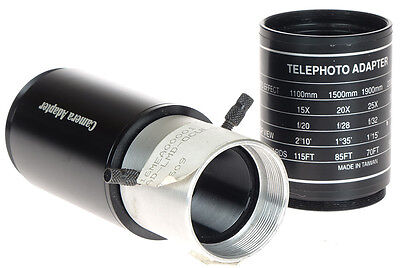 Meade Telescope Camera Mount Adapter w/Telephoto Tube Set Rare & Neat!