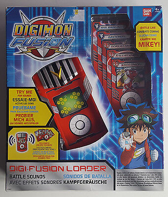 Digimon Fusion, Digi Fusion Loader With Battle Sounds & Cards, Bandai, New.