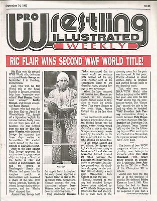 September 14 1992 Pro Wrestling Illustrated Weekly Magazine Nature Boy Ric Flair