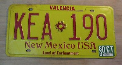 1989 New Mexico License Plate Expired Kea 190