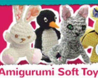 BN Rabbit Amigurumi Crochet Yarn Kit Craft Set Soft Stuffed Toy Bunny White