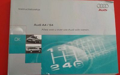 AUDI A4/S4: Instructieboekje, OWNERS MANUAL, libretto manuale uso e manutenzione