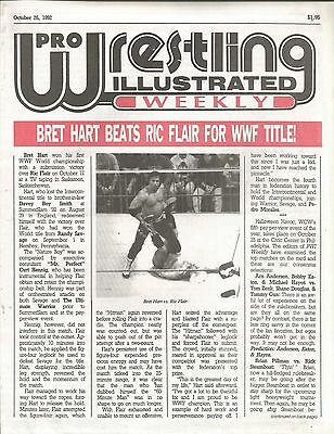 October 26 1992 Pro Wrestling Illustrated Weekly Magazine Bret Hart Ric Flair