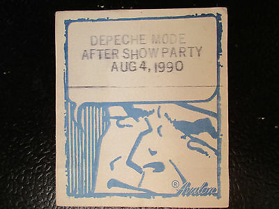 Depeche Mode after show party pass Aug 4 1990 unused