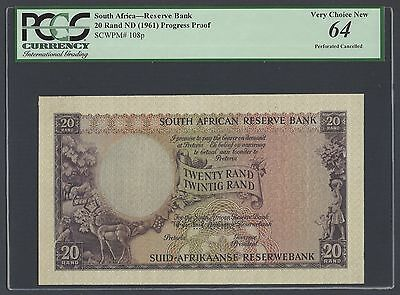 South Africa 20 Rand ND(1961) P108p Specimen Uncirculated