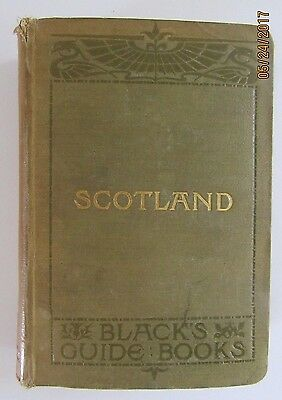 ANTIQUE BLACK'S GUIDE TO SCOTLAND Travel Book with Maps 31st Edition Ex library