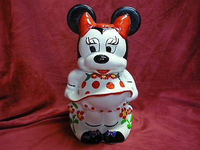 Vtg Disney Mickey & Minnie Mouse Turnabout 4 In 1 Cookie Jar 1940's