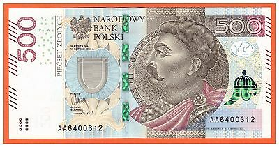 Poland - 500 - Zlotych - 2016 ( 2017 ) - P-New - Series Aa - Unc