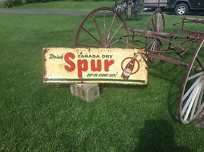 Vintage Rare Spur Cola Advertising Sign , Approximately 55x19, Canada Dry