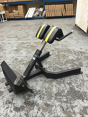 PowerGym Fitness Commercial Adjustable Hyper Roman Extension Bench Chair Back