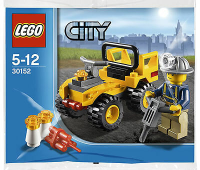 LEGO Exclusive City Mining Quad Truck & Minifigure Special Promo Set 30152 NEW