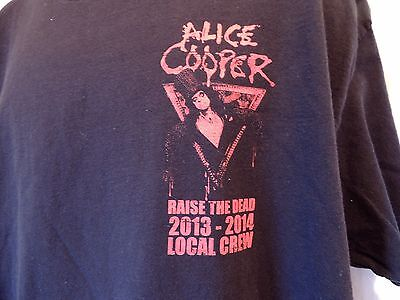 Alice Cooper Raise the Dead Local Crew T-Shirt 2013-2014 Official Shirt XL Black