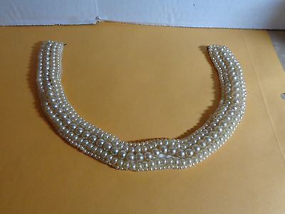 Vintage Beaded Collar - Sally S Creations - Faux Pearls