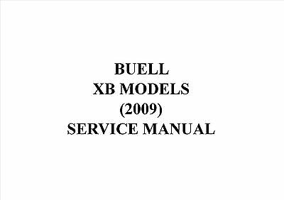 Buell Xb Models (2009) Service Manual