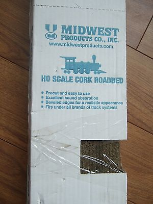 """HO Scale Cork 3013 Roadbed, 25 pieces 36"""" by Midwest Products NOS"""