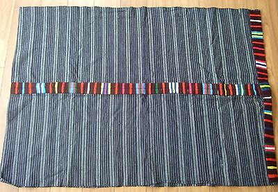 Hand loomed Guatemalan Cotton Fabric with Embroidered Edges - Vintage
