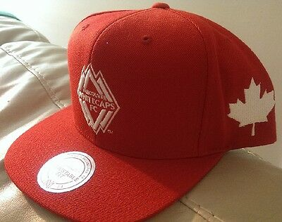 Vancouver Whitecaps MLS Soccer Red Mitchell & Ness Cap Hat Canada 150 NEW