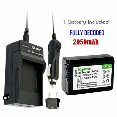 Kastar Battery and Normal Charger Kit for Sony NP-FW50 Alpha 7 NEX-7 SLT-A37