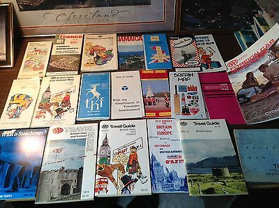 Vintage Britain/British/Ireland/Europe/France Mixed Lot Of Maps And Other Stuff