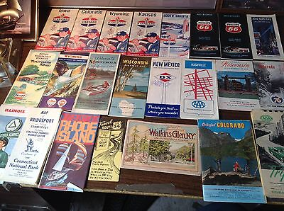 Vintage 1950's/60/70/80's Mixed Lot Gas U.S.A. Road Maps Standard/DX/Gulf/+++