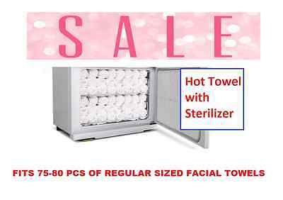 UV Light Hot Facial Towel Sterilizer Cabinet Disinfection Heater Warm Rack Salon