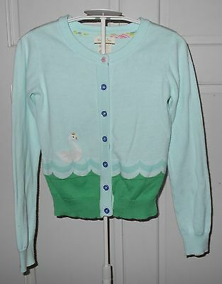 Matilda Jane Hello Lovely Lake Queen Cardigan Sweater Swan Size 8