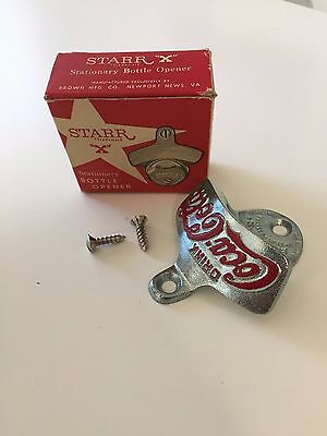 Wall Mount Coca-Cola Bottle Opener Coke Drink Vintage Starr X Cast Iron 1925