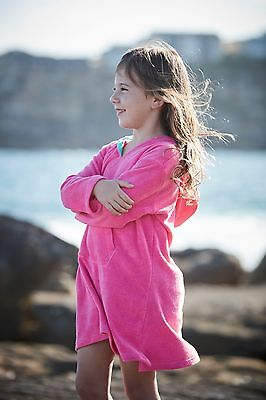 Kids pink towelling cover up robe girls