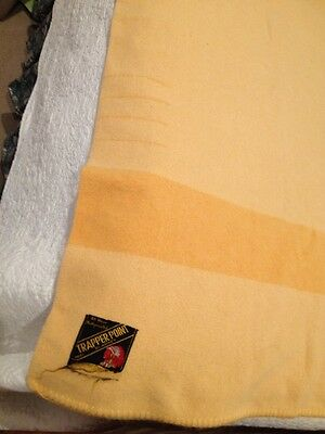 Trapper 4 Point Eaton's Wool Blanket Yellow Vintage