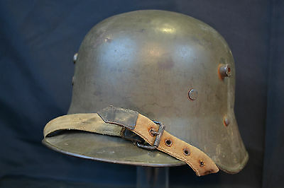 COMPLETE WWI k.u.k. AUSTRO HUNGARIAN M17 HELMET STORM TROOPS GERMAN TYPE WW1