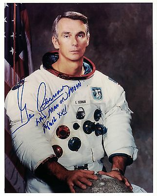 NASA Apollo 17 Astronaut  Gene Cernan Signed Photo White Space Suit WSS