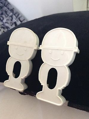 2x Vintage Homepride Fred Cookie Cutters - 70s Retro Cuteness!!!!
