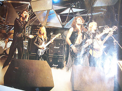 Vintage RARE Iron Maiden Killers tour poster  PAUL DI'ANNO singing, heavy metal