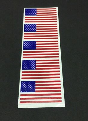 Lot of Five Full Size Football Helmet American Flag Decals